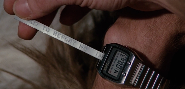 James Bond received a message from HQ on his Seiko 0674 LC