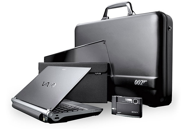 Sony's VGNTX007C Limited Edition Spy Gear with laptop, camera and case