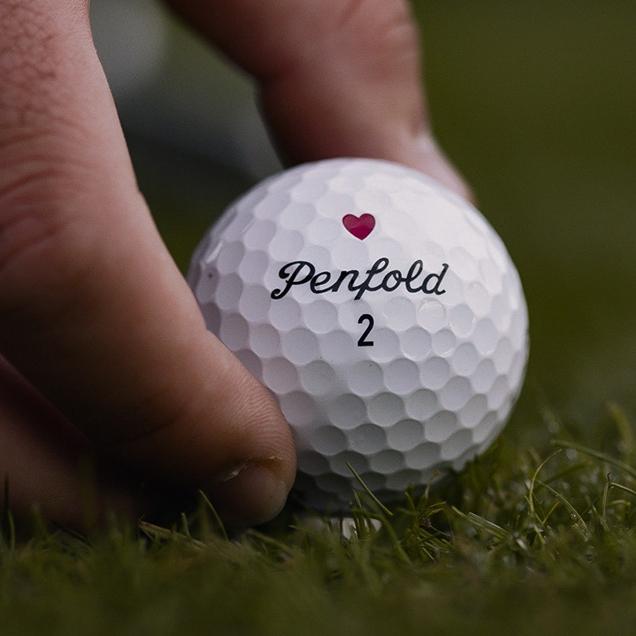 A new 2020 Penfold Hearts Golf Ball