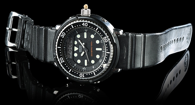 The Seiko H558-5000 used in A View To A Kill, as auctioned by Prop Store in 2017