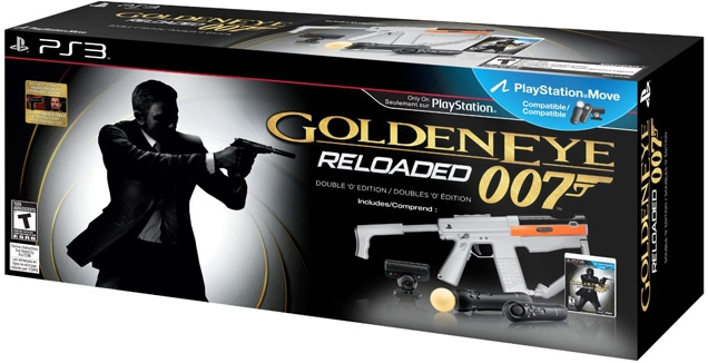 (above) Special Double 'O' Edition Bundle with GoldenEye game and PlayStation Move Sharp Shooter peripherals (USA only)
