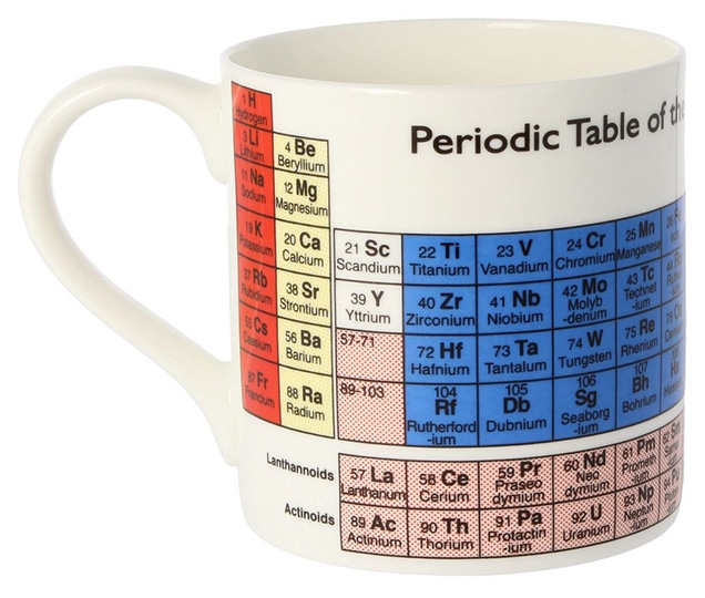 The McLaggan Smith Educational Periodic Mug as seen on Q's desk in No Time To Die