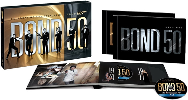 The Bond 50 Blu-Ray set includes all 22 Bond films on Blu-Ray