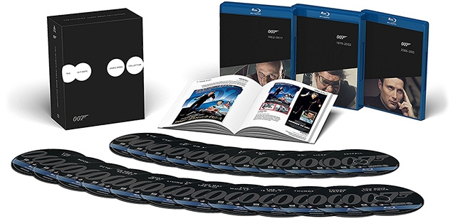 Ultimate James Bond Collection on Blu-Ray includes a booklet and 24 Bond films on Blu-Ray