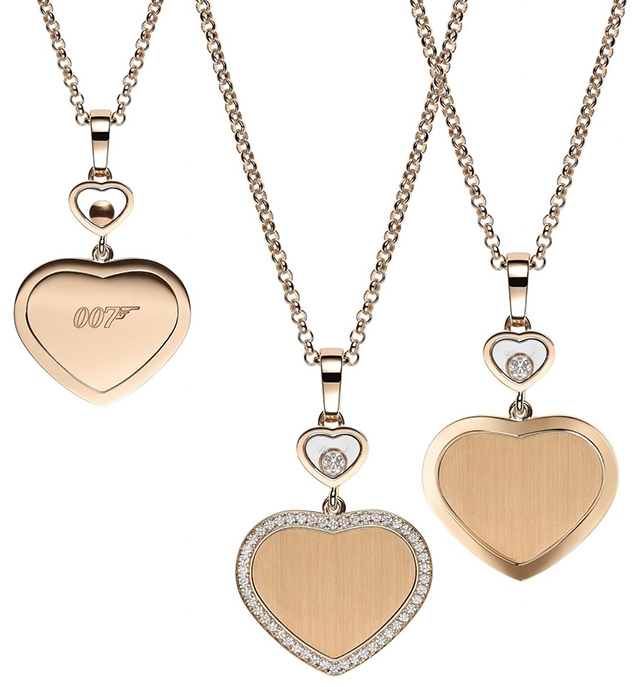 Chopard Happy Hearts – Golden Hearts Collection includes some 007 branded jewellery