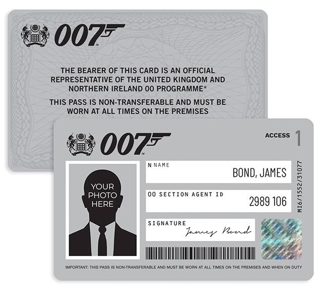 Personalised James Bond 007 ID Card