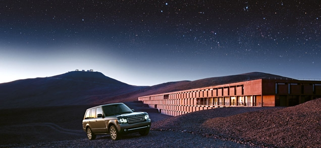In 2012, ESO's Paranal Observatory was portrayed worldwide by Land Rover in this advertising shot