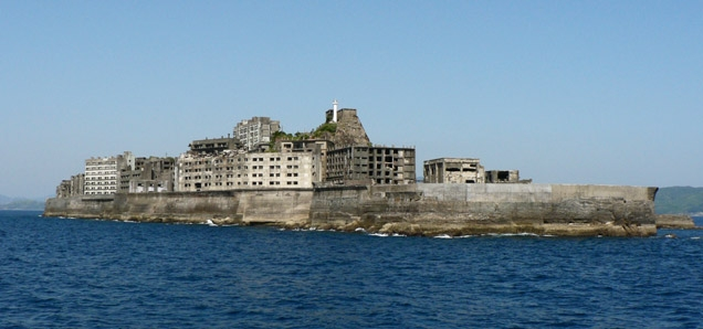 Hashima Island, commonly called Gunkanjima (meaning Battleship Island), is one among 505 uninhabited islands in the Nagasaki Prefecture about 15 kilometers (9 miles) from Nagasaki itself.