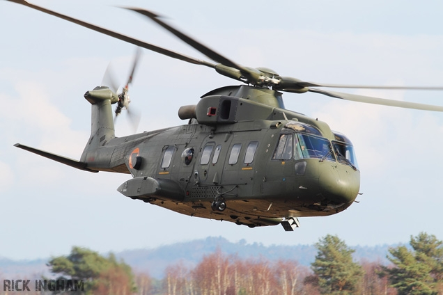 The AgustaWestland AW101 helicopter during the filming of SkyFall.