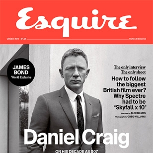 Daniel Craig interview and photos in Esquire Magazine