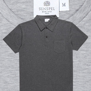 Sunspel provides luxury underwear and releases Spectral grey polo shirt
