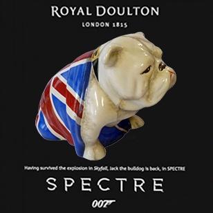 Royal Doulton Jack The Bulldog SPECTRE edition now available
