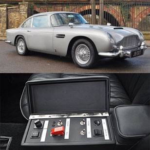 Aston Martin DB5 with Goldfinger gadgets for sale