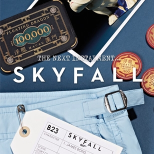 Orlebar Brown re-releases the Setter Sky swim shorts from SkyFall
