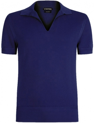 Tom Ford Navy Polo Shirt Bond Lifestyle