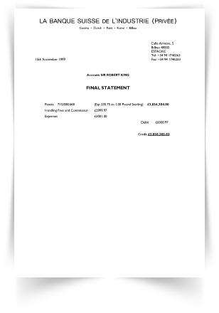 bilbao bank receipt bond lifestyle