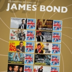 Royale Mail commemorative James Bond stamp sheet
