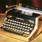 Ian Fleming's golden Royal typewriter