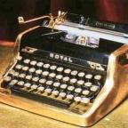 Ian Fleming's golden Royal typewriter