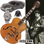 James Bond guitar and other memorabilia on auction