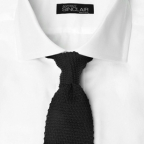 Black knitted tie by Anthony Sinclair