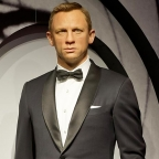 All six James Bonds at Madame Tussauds
