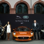 SPECTRE Jaguar C-X75, Land Rover Defender and Range Rover SVR at Frankfurt Motor Show