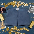 Orlebar Brown's final 007 Collection piece: the James Bond Goldfinger swim shorts