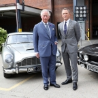 Prince of Wales visits BOND 25 set at Pinewood Studios