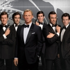Six James Bond figures at Madame Tussauds Orlando