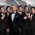 Six James Bond figures at Madame Tussauds Orlando