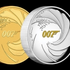 The Perth Mint releases gold and silver coins celebrating James Bond 007