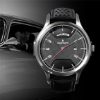 Atelier Jalaper wristwatch with a piece of an authentic Aston Martin DB5 bonnet