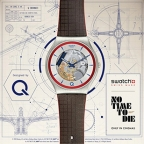Q Swatch Watch ²Q Blue Edition