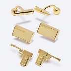 Limited Edition Golden Gun and Bullet and Bullion cufflinks at the 007Store