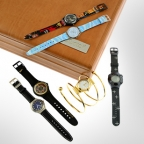 Limited Edition James Bond 40th Anniversary 2002 Swatch watch collection on auction at Fellows